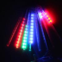 LED Meteor Rain Light Doccia 30cm 50cm Albero di Natale Luci Illuminazione 8 Tubo Lampada 110 V 220 V 240 V per Outdoor Garden Party Lampara EU US