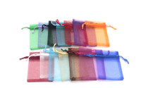 High Quality 200pcs 7x9cm Cheap Oraganza Drawstring Bags Jewelry Display Storage Nice Packingings Wedding Chirstmas Candy Gift Pouches