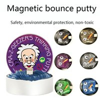 Magnetic bounce putty rubber mud slime hand Thinking putty a...