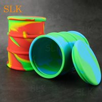 500ml silicone bottle wax jar oil drum barrel shape silicone...
