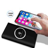 Chargeur de téléphone portable sans fil Qi 10000mAh Power Bank pour iPhone 8 X pour Samsung S8 powerbank de batterie externe sans fil universel