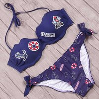 Bikini 2018 Swimwear Women Ruffle Halter Swimsuit Embroidery...