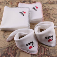 New Infant Bibs Baby Feeding I Love Papa Mama Cotton Multipu...