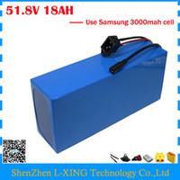 Kostenlose zollgebühr 52 V 18AH lithium-batterie 51,8 V 18AH Elektrische fahrradbatterie 52 V 14 S ebike batterie verwenden Samsung 3000 mah zelle