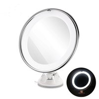 7X Magnifying Makeup Mirror Cosmetic LED Ventosa di bloccaggio Bright Diffused Light 360 gradi di rotazione trucco cosmetico