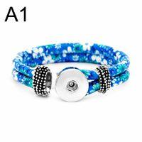 Commercio all'ingrosso stile nazionale 281 cuoio fatti a mano 18mm con bottone a pressione braccialetto intercambiabile gioielli di fascino per le donne regalo