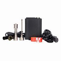 Portable titanium enail Elettrico limanda unghie PID temperatura di controllo e chiodo kit di lumaca vaporizzatore di cera 16mm 20mm olio rig bong di vetro