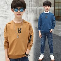 4- 14 y child sweatshirt for boys spring clothing 2019 new bi...
