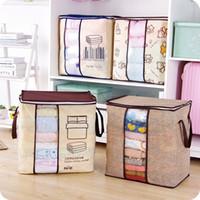 Нетканые кровать мешок наволочка портативный ткани сумка для хранения складной шкаф организатор для подушки одеяло постельные принадлежности ящик для хранения