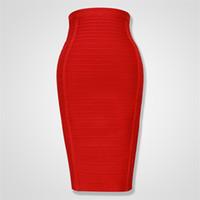 4 цвет высокого качества задняя молния колена длиной bodycon юбка бандаж женщины клуб мода партии юбки