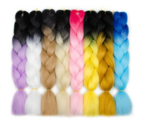 Ombre Xpression Braiding Hair Three Tone Jumbo Braids Synthe...