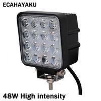 ECAHAYAKU 1 개 4 인치 48 와트 led 작업 조명 램프 자동차 4x4 ATV 작업 조명 바 트럭 운전 안개 램프 스포트라이트 트랙터 오프로드