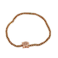 Rose Gold Daisy Love Heart Cat Bear Jewelry Set para Niñas Necklace Aretes Bracelet Bangle para Mujeres y Niñas