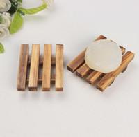 Bandeja de almacenamiento de madera de plato de jabón de madera titular plato de ducha baño baño NUEVA tienda en todo el mundo libre de DHL SN2201