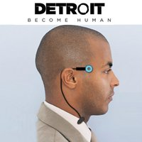 Detroit : Become Human Cosplay Connor Wireless Temple Led Li...
