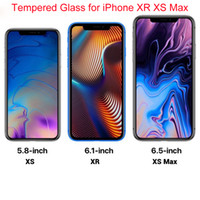 For iPhone X Front Tempered Glass Screen Protector XR XS Max...