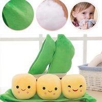 Kawaii Gift Kids Stuffed Plants Peas Pillows Plush Toy Pod- s...
