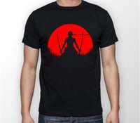 Zoro One Piece Red Moon Anime Manga Unisex Tshirt T- Shirt Te...