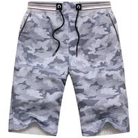 Courts pour hommes Mens genou Longueur Loose Camo Casual Summer Beach Voyage Camouflage pour hommes