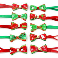 50pc lot Christmas Holiday Dog Bow Ties Cute Neckties Collar...