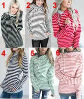 DHL striped double Hood Hooded Hoodies Sweatshirts Women Dra...