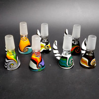 14 milímetros atacado Bowl e 18 milímetros Masculino Glass Bowl Deslize Acessórios fumar taças de vidro coloridos para o vidro Bongs água Bong plataformas petrolíferas