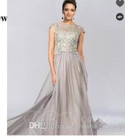 53480ed97d4 Wholesale mothers quinceanera dresses online - A Line Jewel Neck Lace  Evening Mother of the Bride