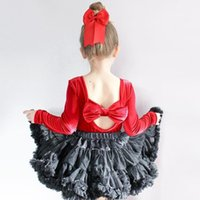 4 Colors Baby Girls Back Bowknot Romper Spring Autumn Newbor...