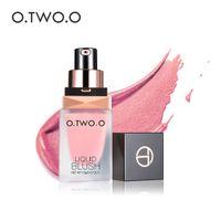 O.TWO.O 4 COLORES LÍQUIDO LÍQUIDO Maquillaje de maquillaje Elegante Silky Blush Long-duraT Natural Encantador Encantador Encuento Facial Cosméticos