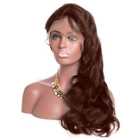 360 Lace Front wigs #2#4 light dark brown color Body Wave Wi...