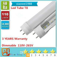 Led Tube Dimmable 4ft 1200mm T8 Led Tube High Super Bright 11W 18W 22W 28W Warm Cold White Led Lampadine fluorescenti AC110-240V