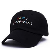 صفر الأصدقاء الرجال النساء القبعات رسائل أنماط التطريز الهيب هوب الكرة قبعات ذكر أنثى القبعات