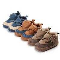 Новая весна Pu кожа ребенка мальчиков обувь младенца Малыши Противоскользящая младенца мокасины обувь смешанный цвет первых ходунки Повседневная обувь детская