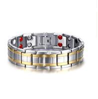 Mischauftragsförderungsverkauf * Edelstahlmagnetarmband der nagelneuen Männer magnetisches Steinarmbandquellfabrik-Verkäuferschmuck 029