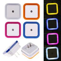 Işık Sensörü Kontrolü Gece Işık Mini ABD Plug Yenilik Kare Yatak Odası Lamba Bebek Hediye Için Romantik Renkli Işıklar