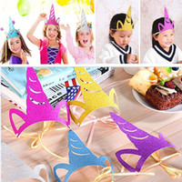 Sequin Unicorn Party Hats Glitter Unicorn Party Supplies Col...