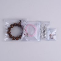7*11cm Self Seal Antitarnish Earring Jade Ring Packing Pouch, Soft PVC Plastic Jewelry Anti-oxidation Zipper Bag QW7402