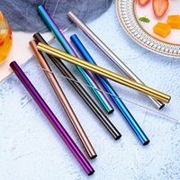 Colorful Stainless Steel Straw Reusable 12*215mm Straight St...