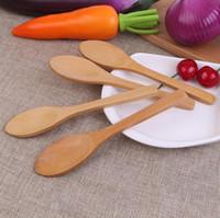 Кухня приправы Джем ложка кофейная ложка маленький деревянный ребенок мед ложка 12.8*3 см Бесплатная доставка LX3550
