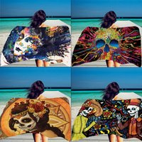 Hot Thin Rayon Beach Towel Shawl Yoga Mat Bath Towels Skull ...