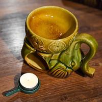 Porcelan Kadzidełka Palnik Elephant Hollow Burner Świeca Aromaterapia Piec pali Kadzidło Essential Oil Świeczki