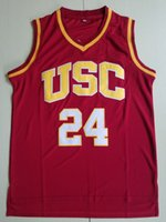 Vintage USC Trojans 24 Brian Scalabrine College Basketball Jerseys Mens 31 Lisa Lesa 31 Cheryl Miller Vermelho Amarelo Universidade Costura Camisa