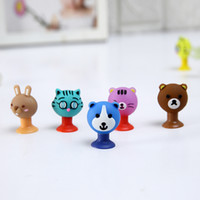 Cartoon Cute Animals Bear Cat Coniglio Sucker Emoji Giocattoli PVC Action Figure Model Matita Topper Giocattoli Regali per i bambini