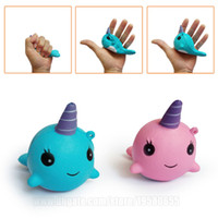Whale Pink Blue Squishies Unicorn Fidget Jumbo Cartoon Soft ...