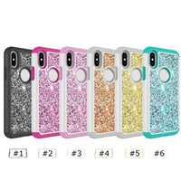 For Samsung S9 shinny bling cases 2 in 1 PC and TPU phone ca...