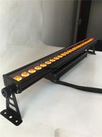 2 pièces projecteur 110v / 220v led extérieur professionnel 24x15w 5in1 led bar rgbwa led wall washer light dmx