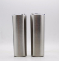 20OZ skinny tumblers with straws double wall stainless steel...