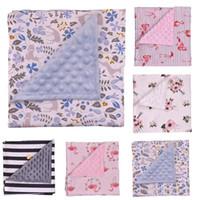 Babydecken Blumendruck Swaddling Minky Bubble Dot Decke Neugeborenen Baumwolle Wrap Infant Parisarc Schlafsack Bettwäsche Badetücher