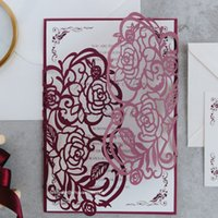 Blooming In Burgundy - Unique And Formal Invitation With Bur...