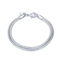 Neue Ankunft! Männer Mode Trend Sterling Silber überzogenes Armband SPB510; Mode Mädchen Frauen 925 Silber Link, Kettenarmband